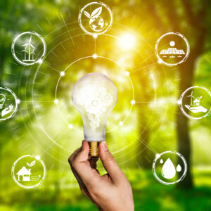 Green,Energy,Innovation,Light,Bulb,With,Future,Industry,Of,Power